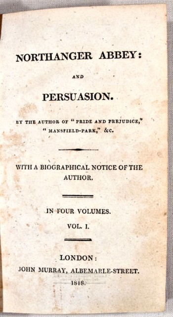 Persuasion-Northanger Abbey Title Page